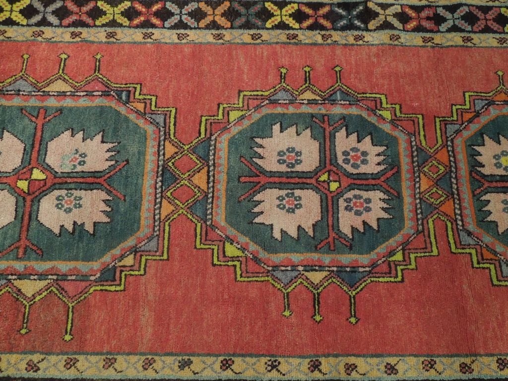 Rust Red Geometric Wool Handmade Rug 5 X 9 Area Rugs