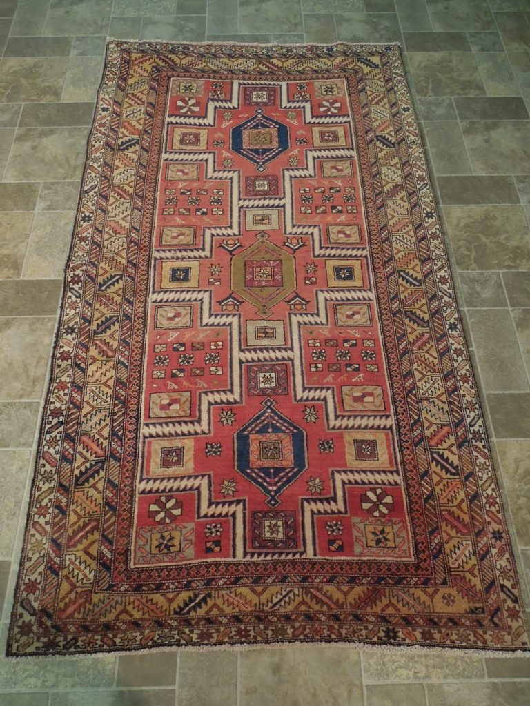 Red 4 X 6 Area Rugs Baku Carpet Popular Oriental Hand