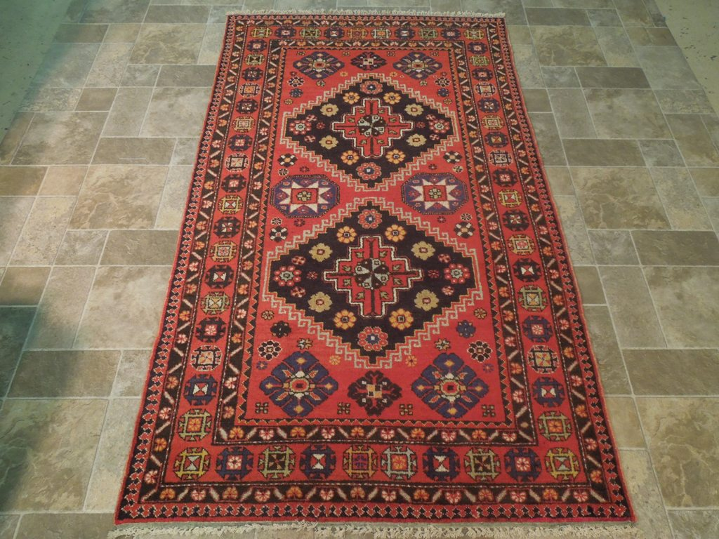Rust Red Carpet Bordjalu Kazak Runner Fine Hand Knotted