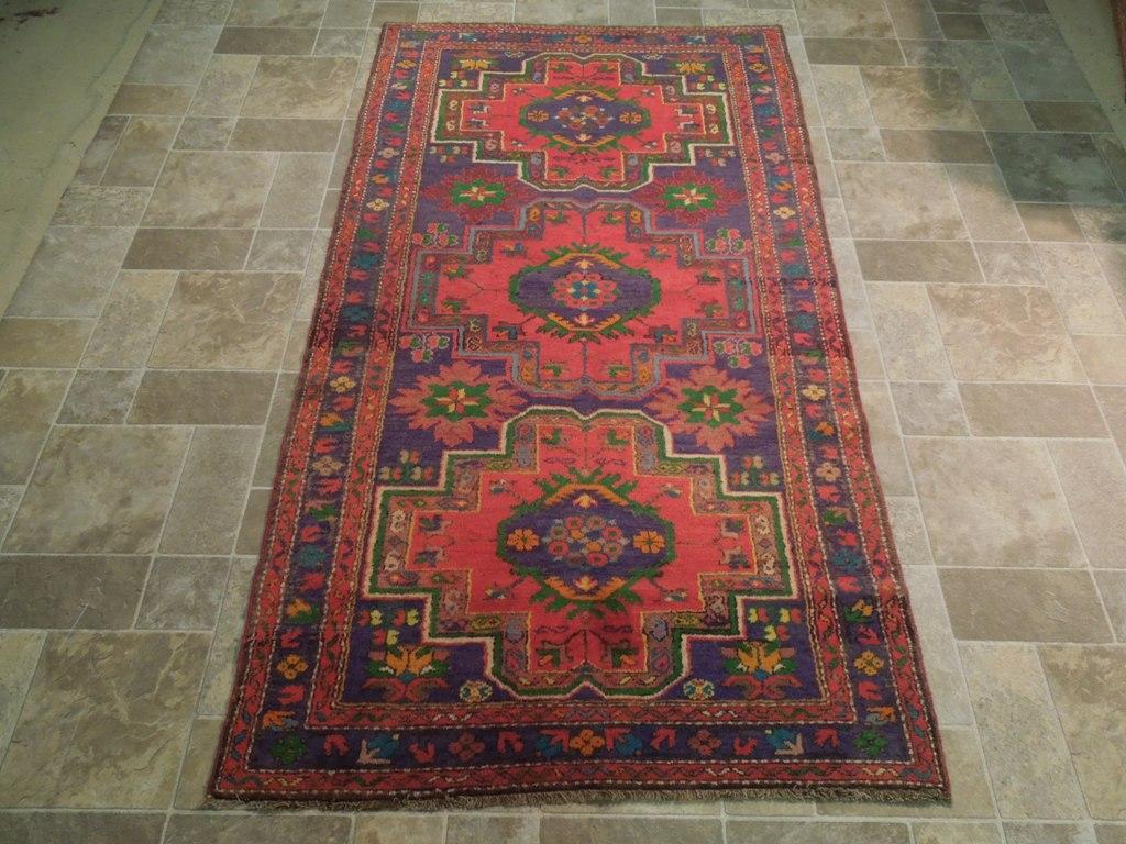 Purple blue 4 39 x 8 39 area rugs original kazak runner for Custom made area rugs