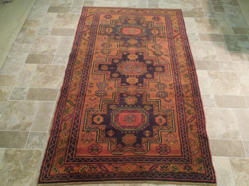 gold traditional handmade rug 5 39 x 7 39 area rugs sevan wool carpet ebay. Black Bedroom Furniture Sets. Home Design Ideas