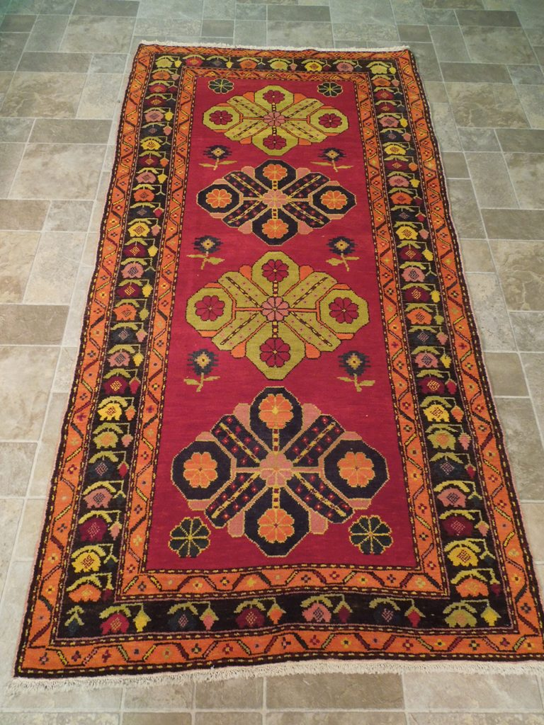 Beautiful Original 4 X 8 Runner Hand Woven Rug Kazak