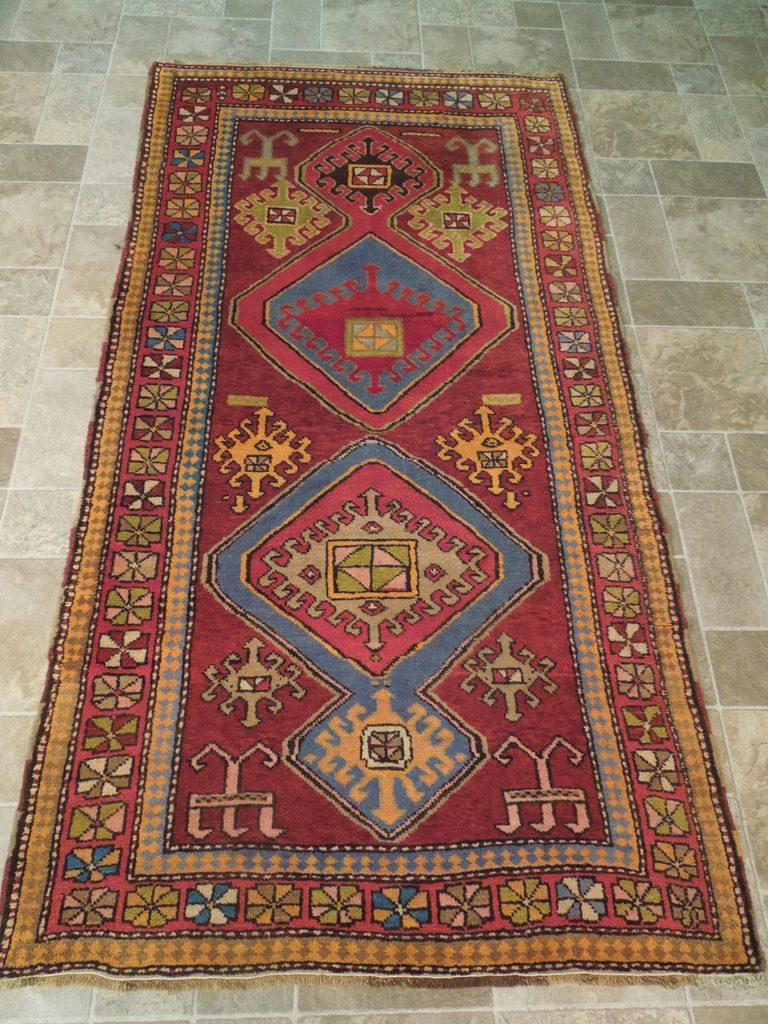 Burgundy Genuine Quality Tribal Pattern Handmade Rug 4 X