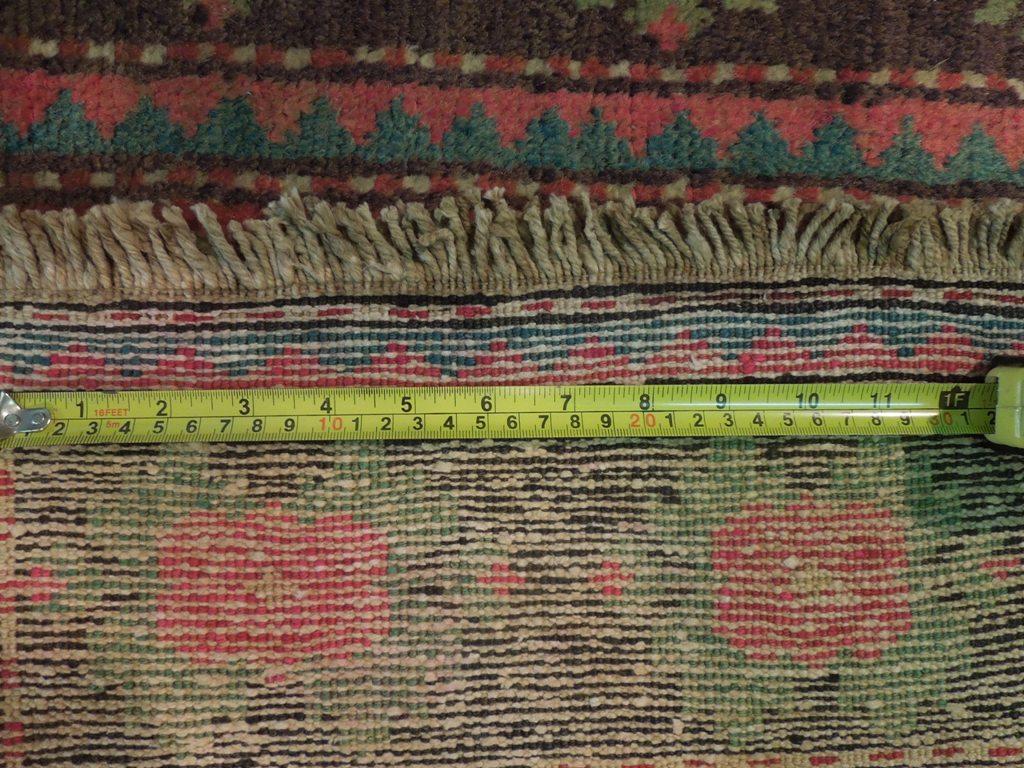 Brick Handmade Rug 4x9 Carpet Armenia Kazak Runner