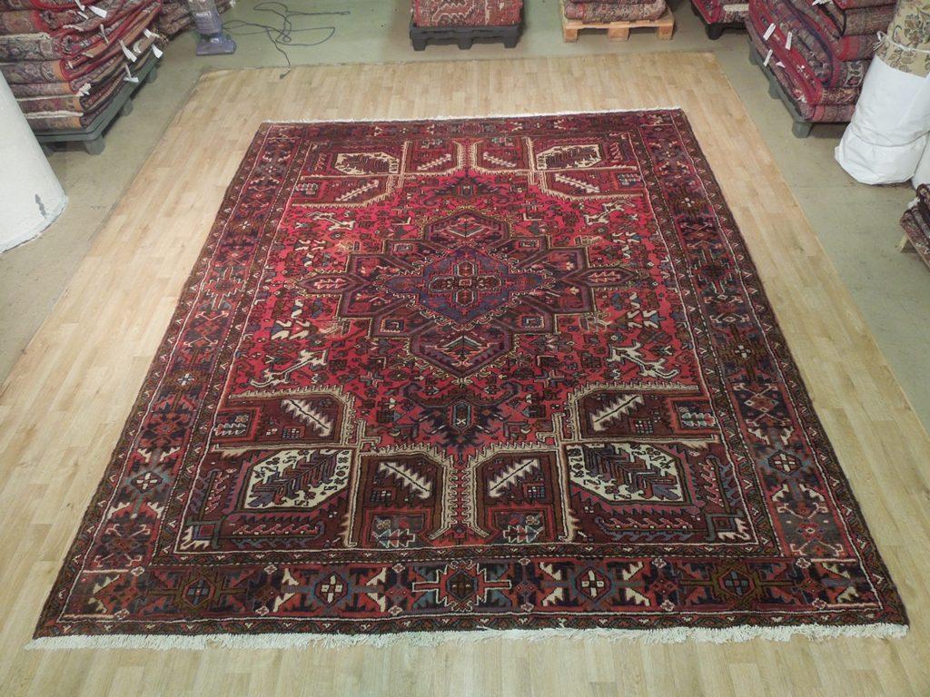 9u0027 X 11u0027 Hand Knotted Persian Heriz Rug