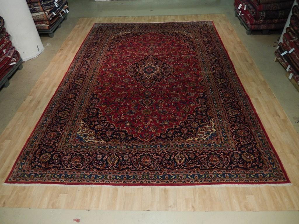 10x14 Oriental Kashan Rug Hand Woven Persian Traditional