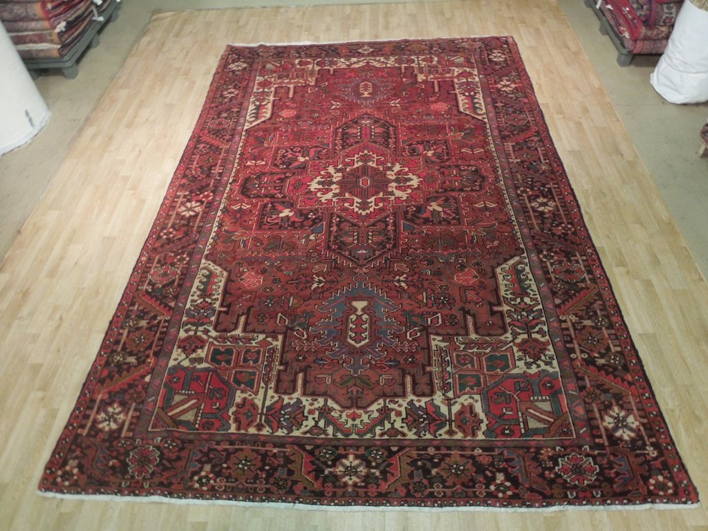 Burgundy Traditional Oriental Rug Hand Knotted Rug 8 X 12