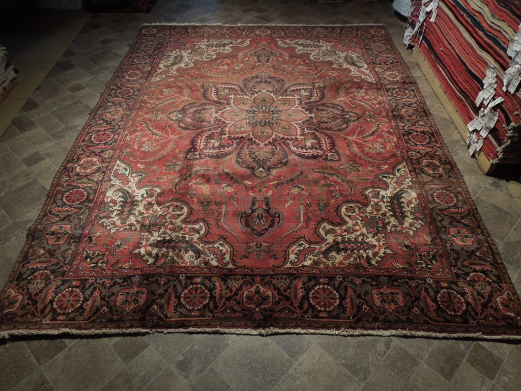 heriz mount sabalan rug hand knotted area rug 9 39 x 12 39 old fashioned persian ebay. Black Bedroom Furniture Sets. Home Design Ideas