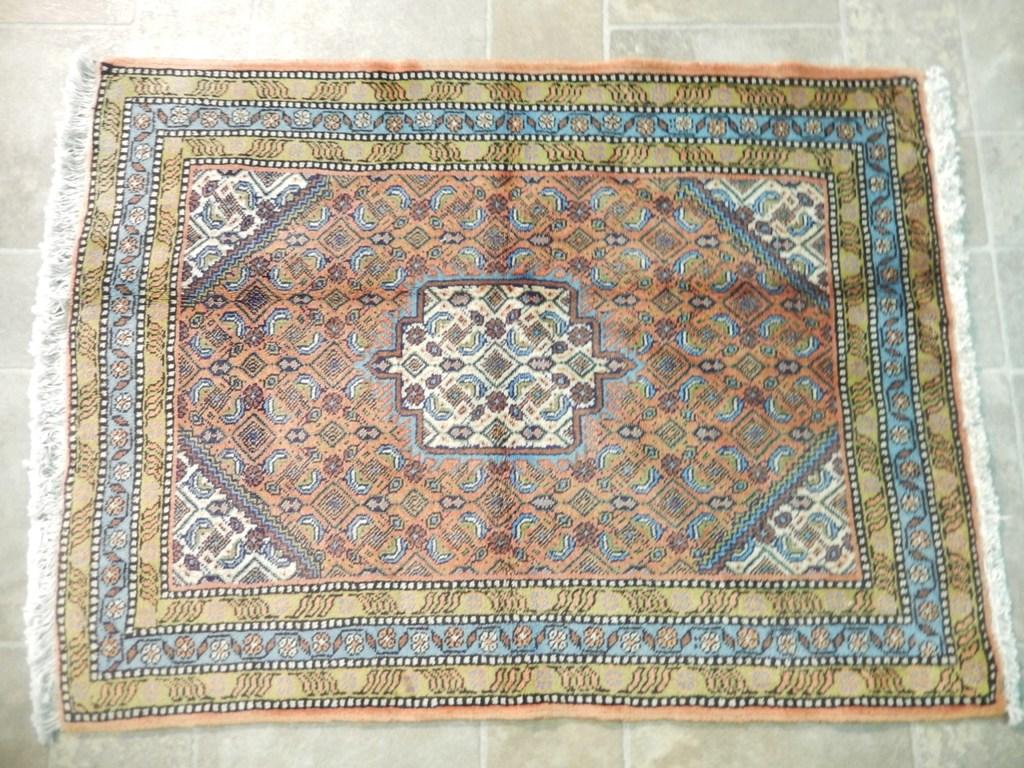 copper blue gold hand knotted rug 2x3 persian bijar oriental rug ebay. Black Bedroom Furniture Sets. Home Design Ideas
