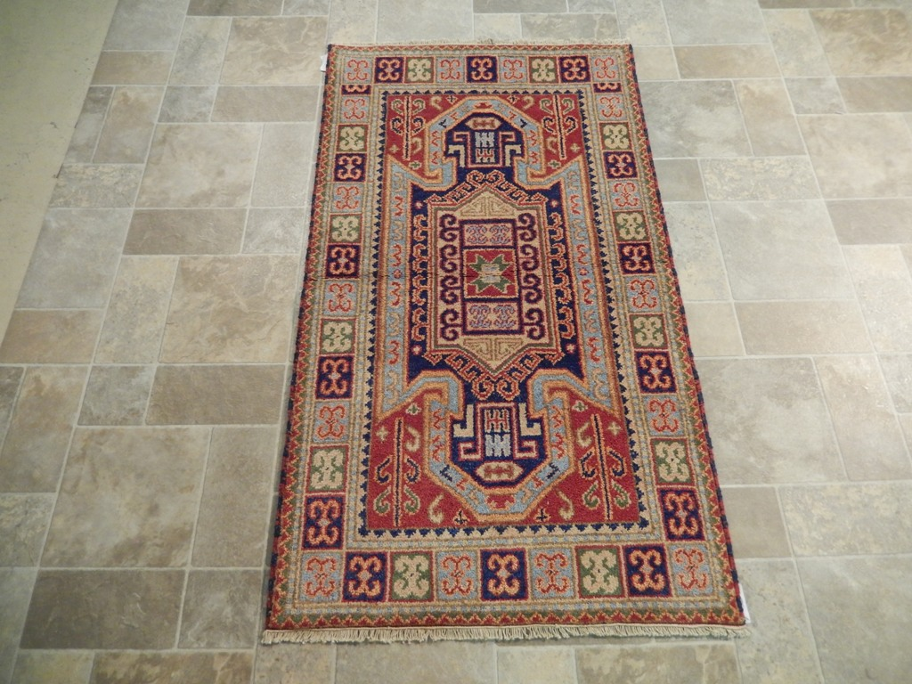 3x5 eagle kazak rug hand woven interior decor rug wool on for Decor international handwoven rugs