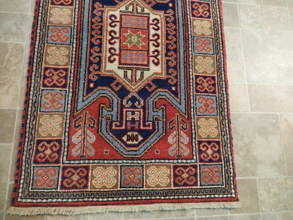 Geometric Carpet Home Decor Handmade 3 X 5 Kazak Wool
