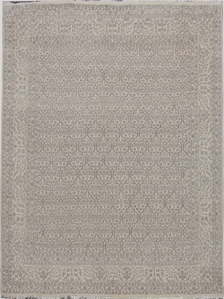9x11 Wool & Silk Fine 12/60 Quality Rug Hand Knotted ...