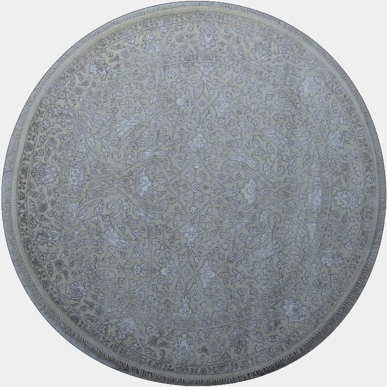 Excellent Quality Wool Amp Silk Handmade 6x6 Round Rug Fine