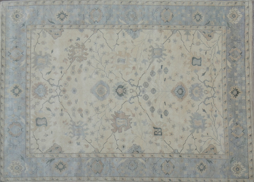 Beige Gray Pale Neutrals RUG 10x14 Oushak Natural Wool Hand Knotted Carpet : eBay