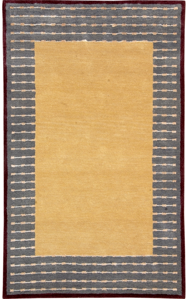Solid gold gray hand tufted rug 5x8 ft contemporary new for Modern area rugs for sale