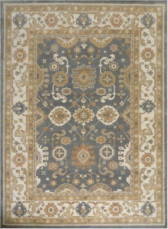 Ideal Indoor Rugs Hand Knotted Oushak Area Rug 12 X 15