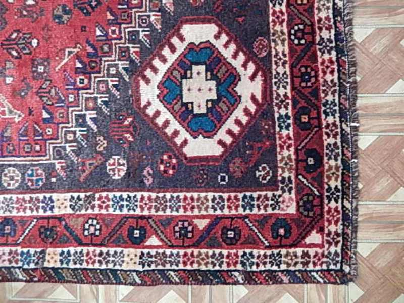 Nightingales Birds Red 7x9 Shiraz Rug Handmade Tribal