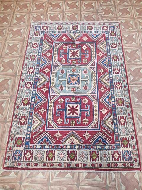 islamabad area rug 4x6 kitchen carpet hand knotted kazak | ebay