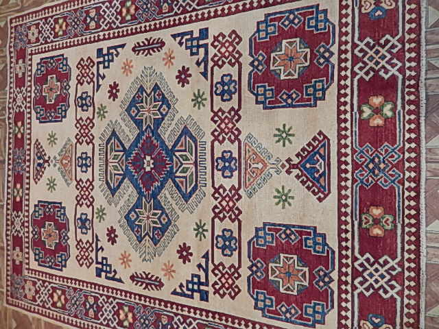 5 X 6 Kazak Antique Reproduction Elegant Laundry Room