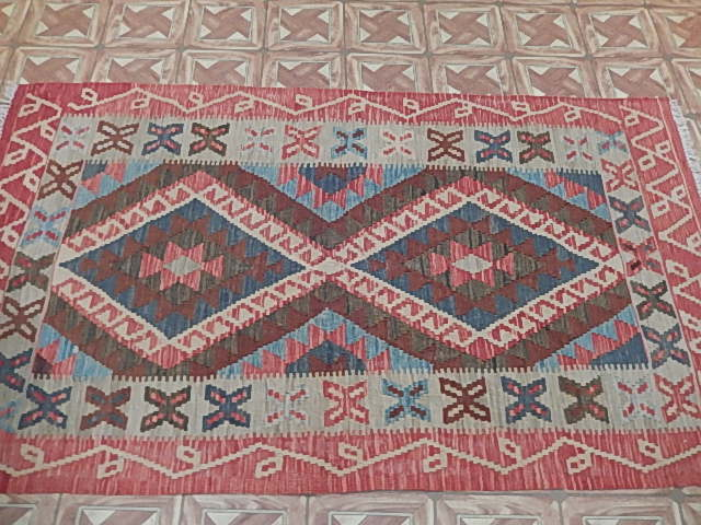 Small New Area Rugs Flatweave 4 X 6 Native American