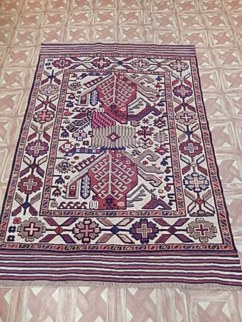 4x6 188x124 cm balcony room handmade baluch rugs nyc rug for Cheap persian rugs nyc