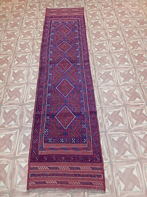 red blue mashwani rugs for less wool tribal hand knotted runner 2x9 ft rug ebay. Black Bedroom Furniture Sets. Home Design Ideas