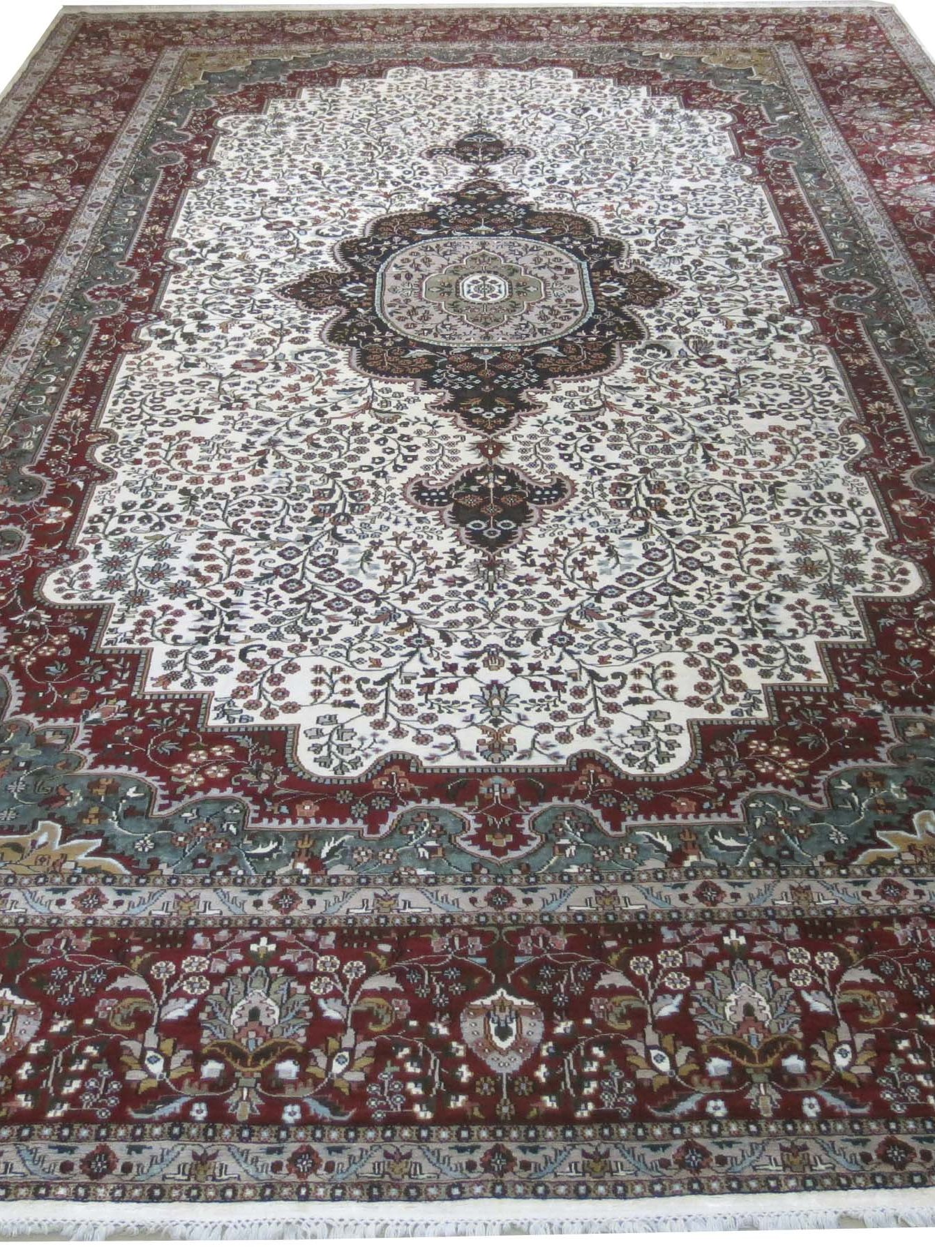 hand knotted 12 39 x 18 39 rug persian design silk rugs classy rugs clearance ebay. Black Bedroom Furniture Sets. Home Design Ideas