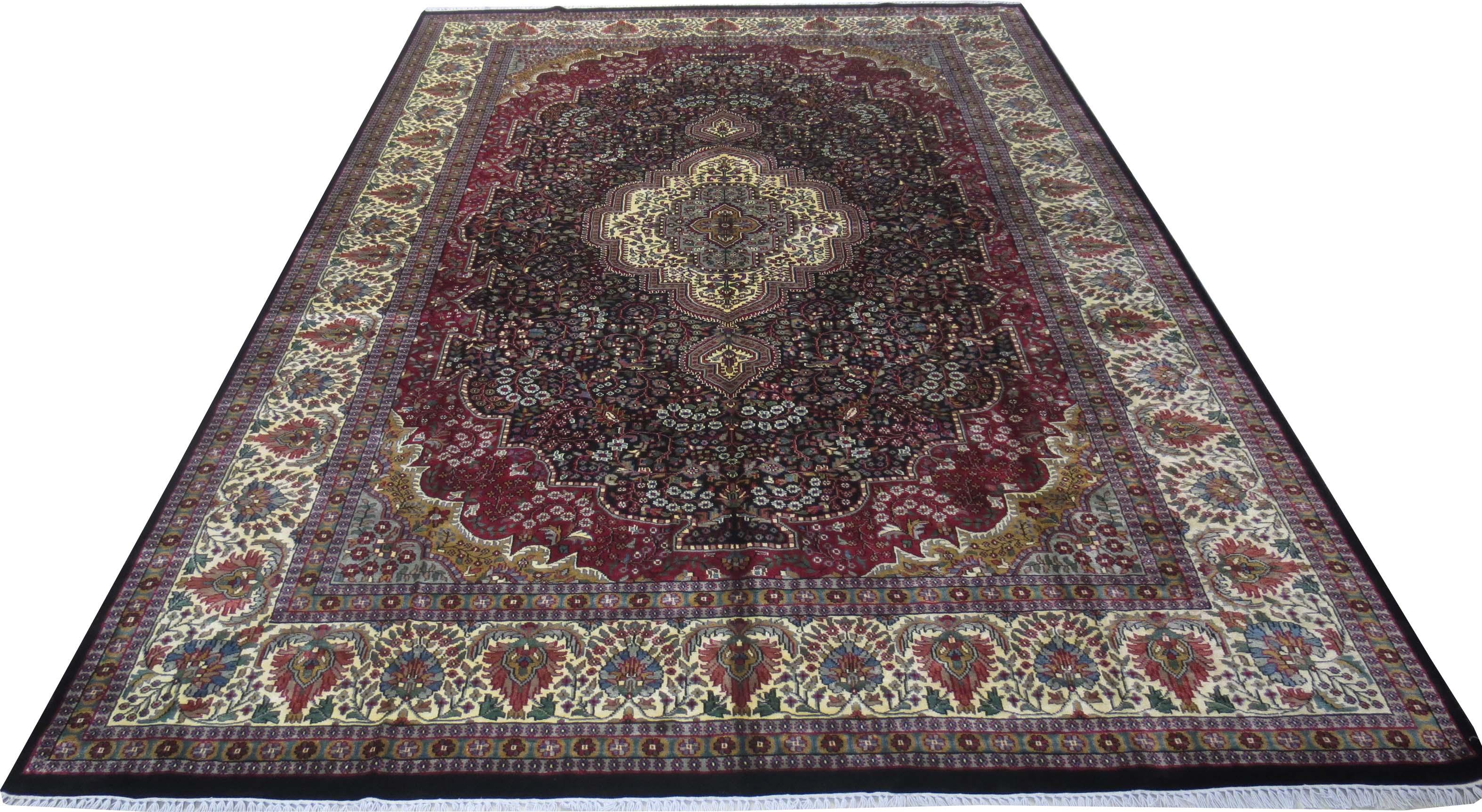 Rugs on hardwood floors handmade 9 x 12 silk blend kashmir for Rugs for wood floors