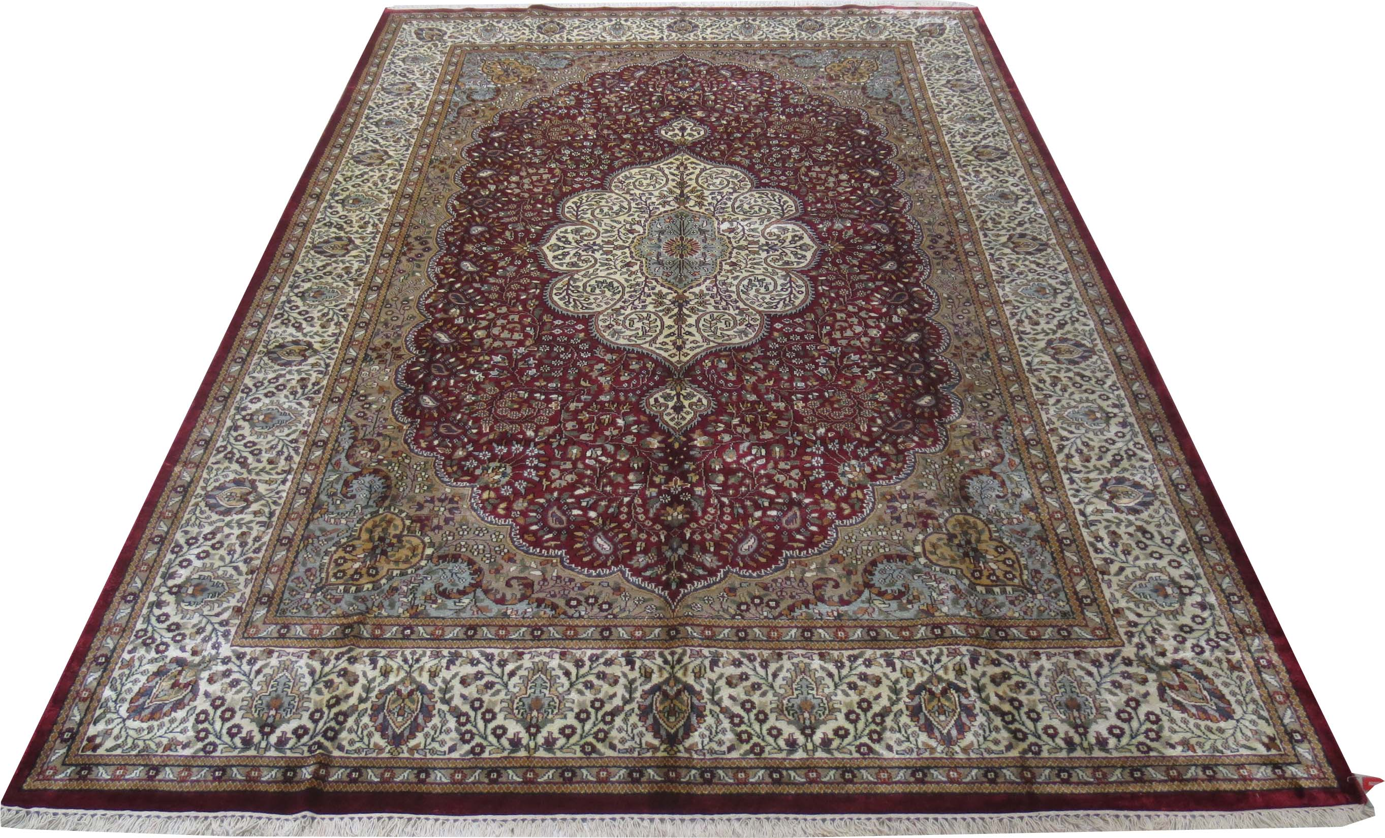 Ideal home decor rugs hand knotted rug 8 39 x 11 39 art silk for Home decorators rug sale