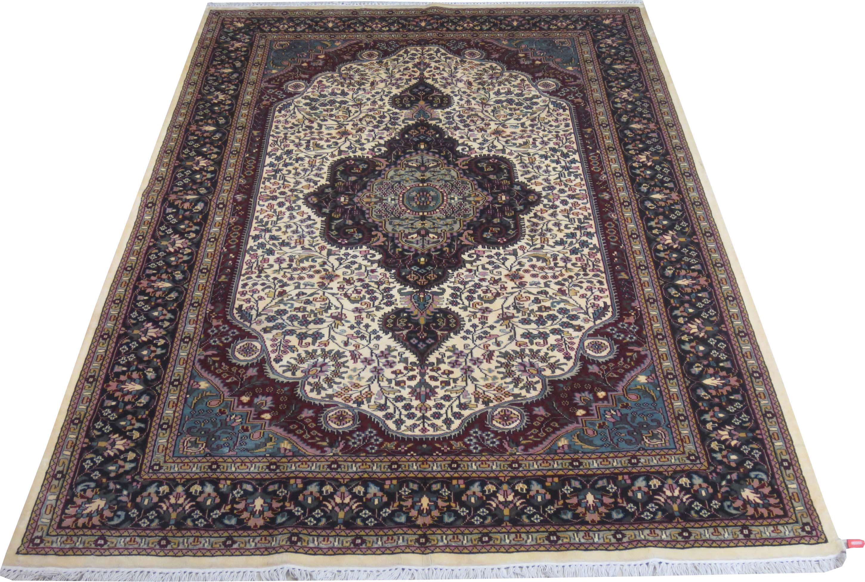 Ivory 6x9 Area Rugs Sale Silk Kashmir Cheap Rugs For Sale