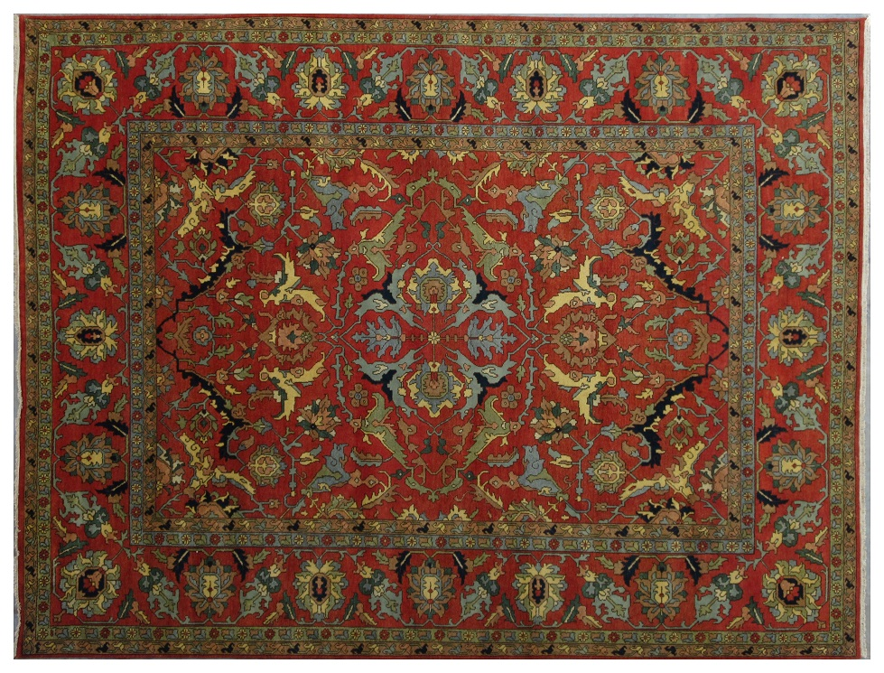 12x15 area rug rust red serapi floral hand knotted lowest price area rugs ebay. Black Bedroom Furniture Sets. Home Design Ideas