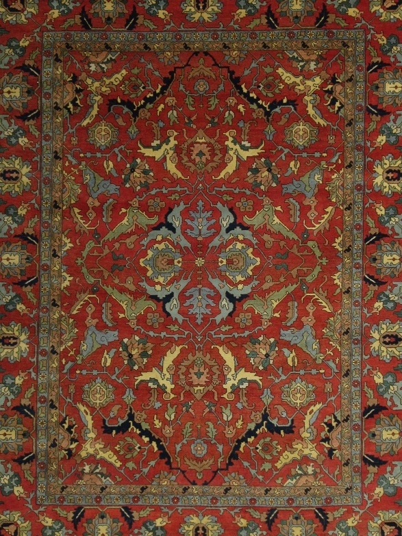 12x15 Area Rug Rust Red Serapi Floral Hand Knotted Lowest