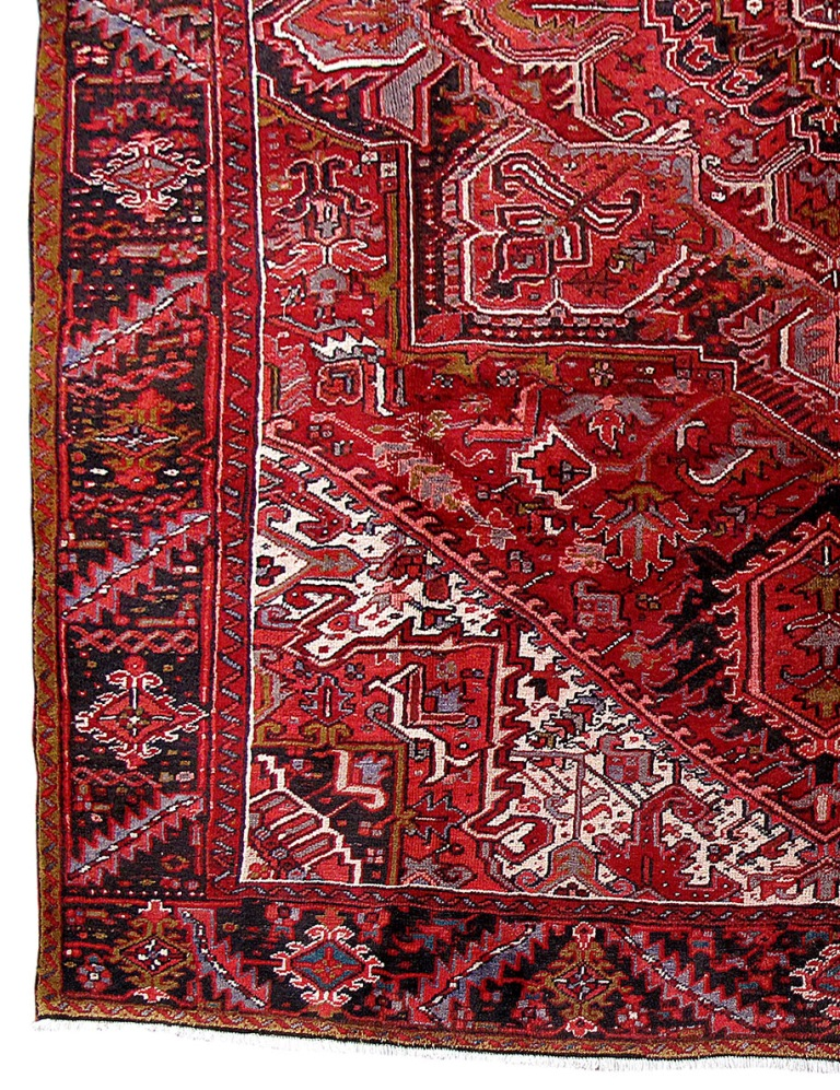 10 39 x 13 39 persian heriz real durable wool living room rugs for Living room rugs 9x12