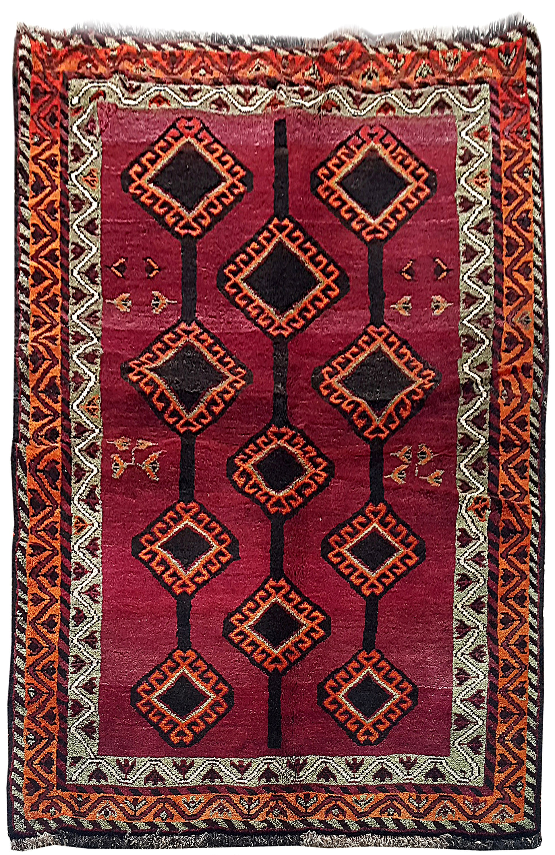 hand knotted rug 5 39 x 7 39 persian shiraz carpet rugs clearance ebay. Black Bedroom Furniture Sets. Home Design Ideas