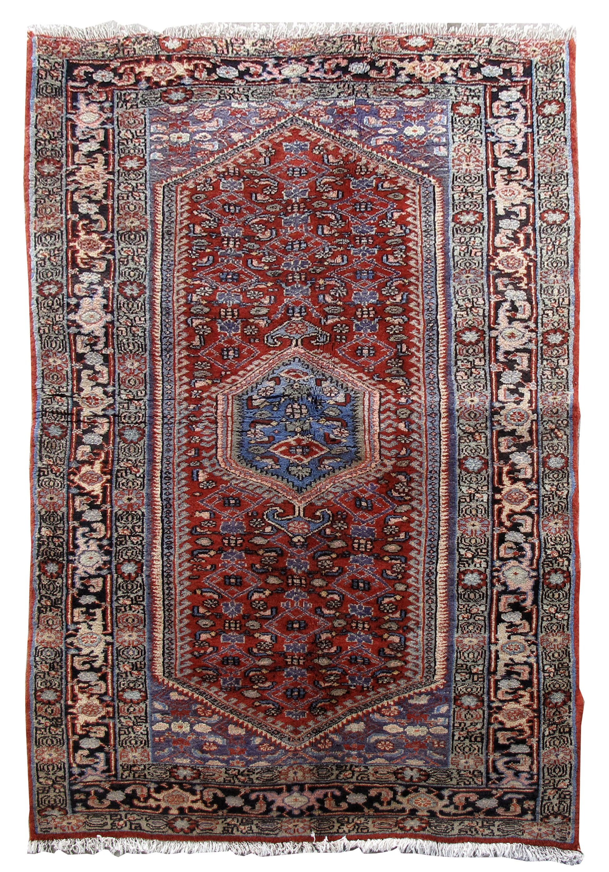 Hamadan cheap rugs rug 4x7 persian burchalow carpet hand for Cheap persian rugs nyc