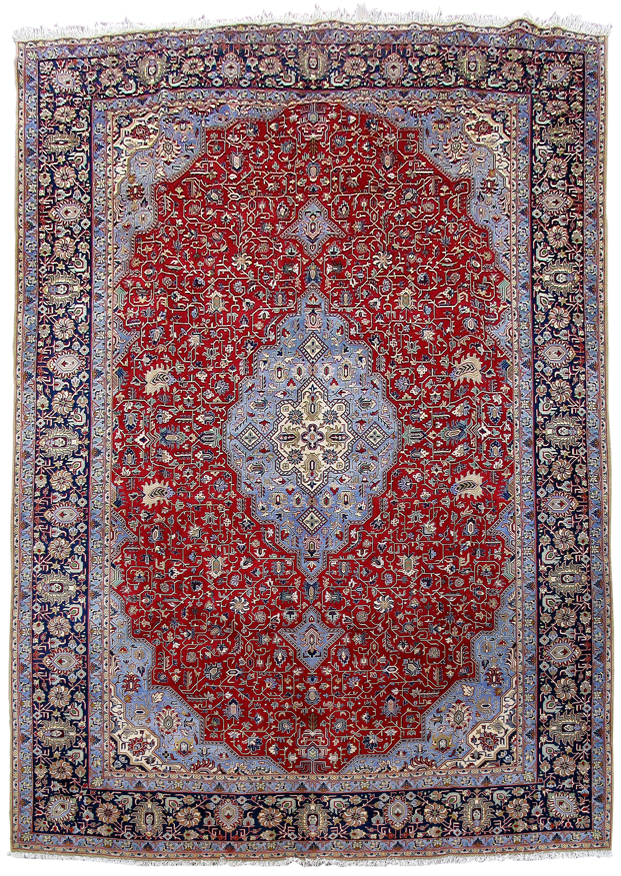 style hand knotted rug 10x15 persian isfahan carpet | ebay