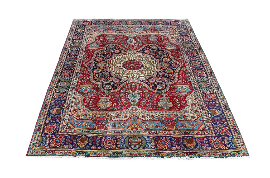 Persian tabriz carpet oriental hand knotted rug 10x10 ebay for 10x10 carpet