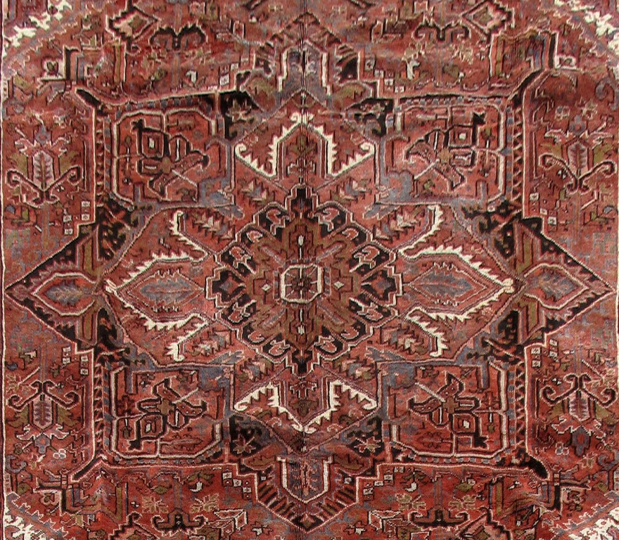 10 39 x 13 39 persian heriz iran wool fiber cheap oriental for Cheap persian rugs nyc