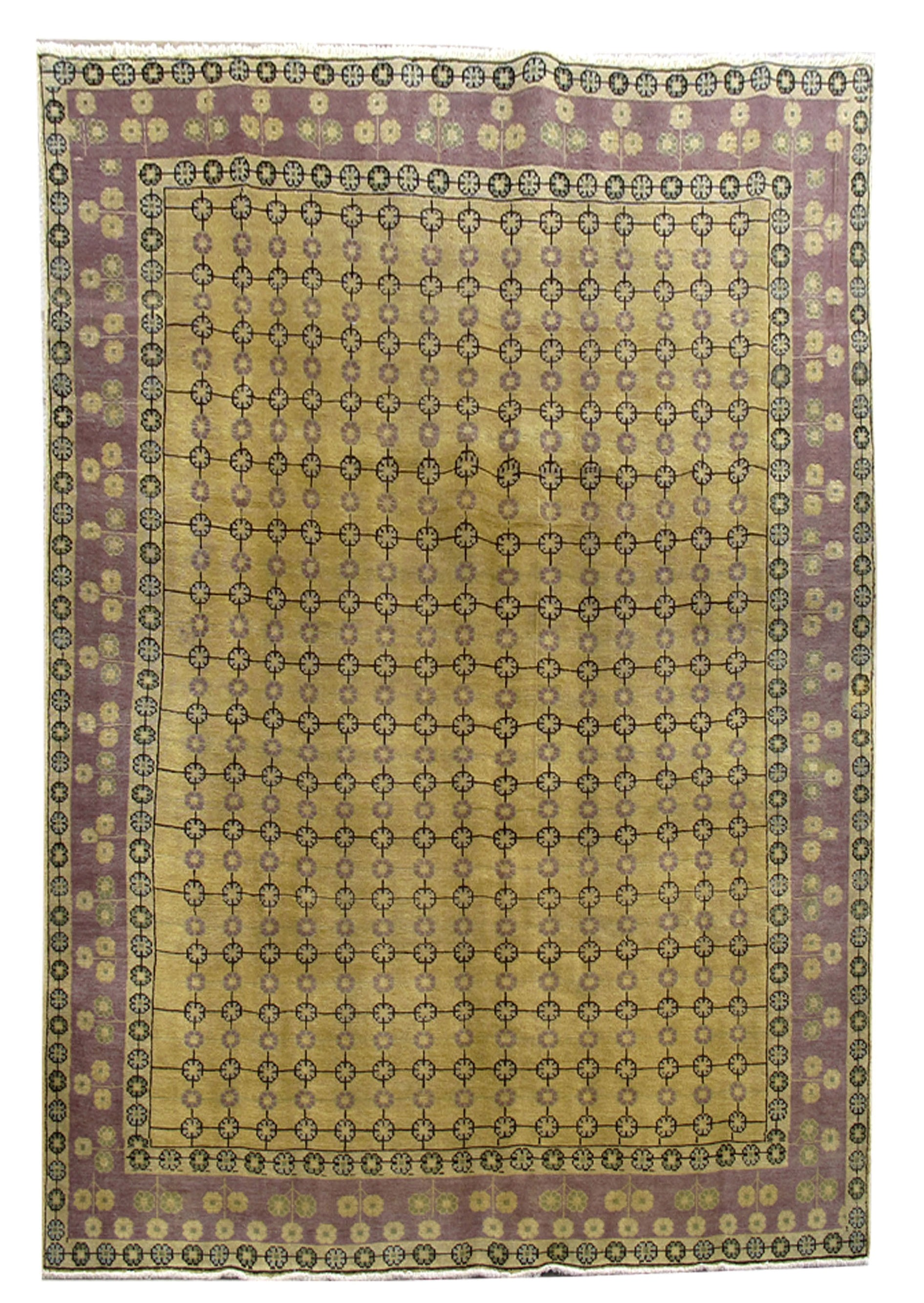 Living room hand knotted rug 6x9 persian tabriz wool on for Living room rugs 6x9