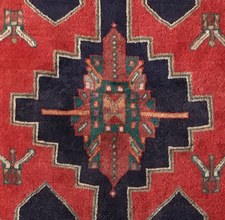 Persian Carpet Quality: Ardebil Persian Good Quality Wool Hand-Knotted Accent Rug