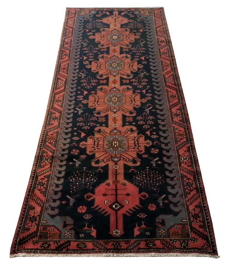 Handmade Indian Persian Rugs: Handmade Runner 5' X 9' Persian Genuine Hamadan Rug