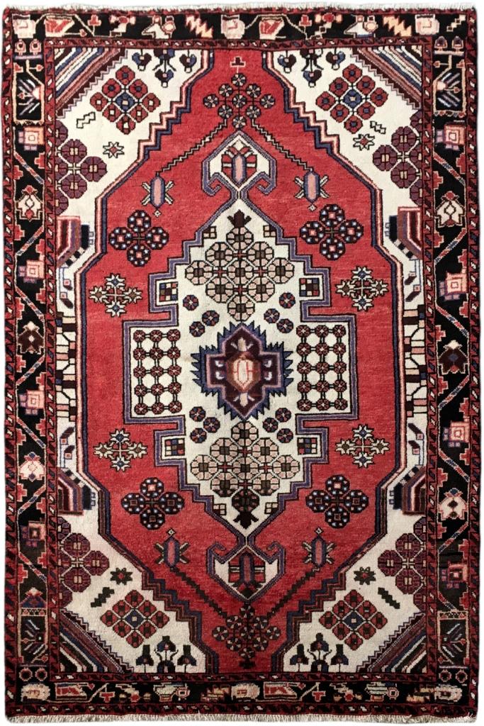 4x7 Ft Hamadan Persian Wool Traditional Handmade Rug Ebay