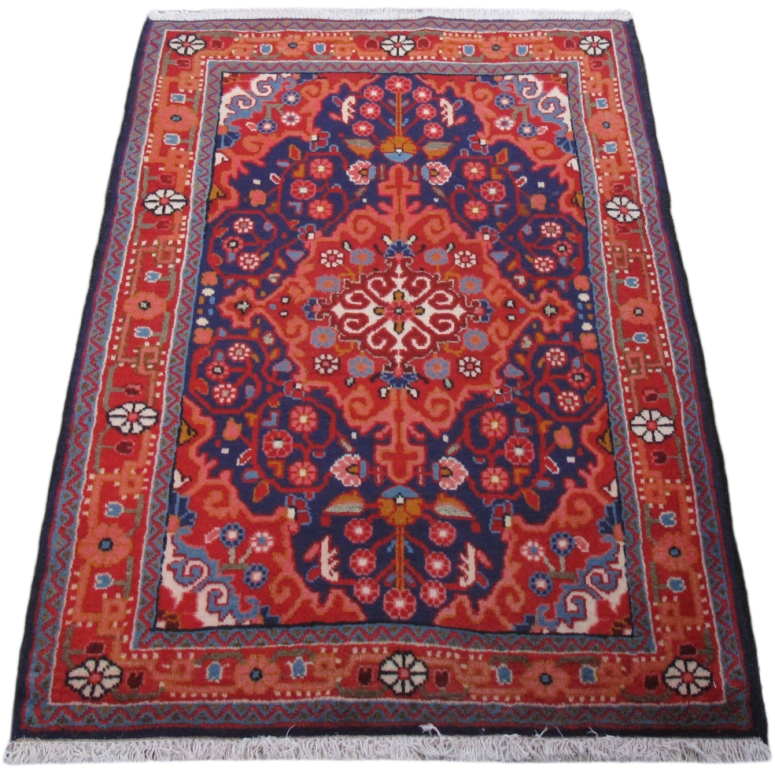 Persian Carpet Quality: Hand-Knotted Rug 2x3 Persian Good Quality Jozan Rug