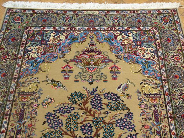 4x6 Signed Shadsar Quality Unusual Persian Kashan Prayer