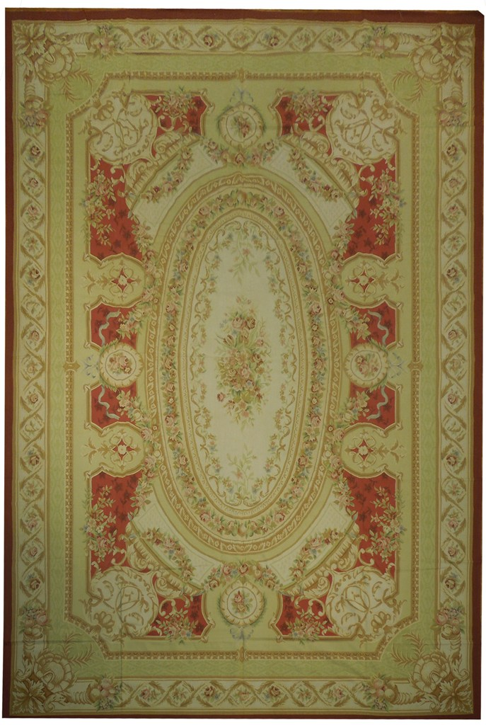 Image Is Loading 12 039 X 18 French Aubusson Rug