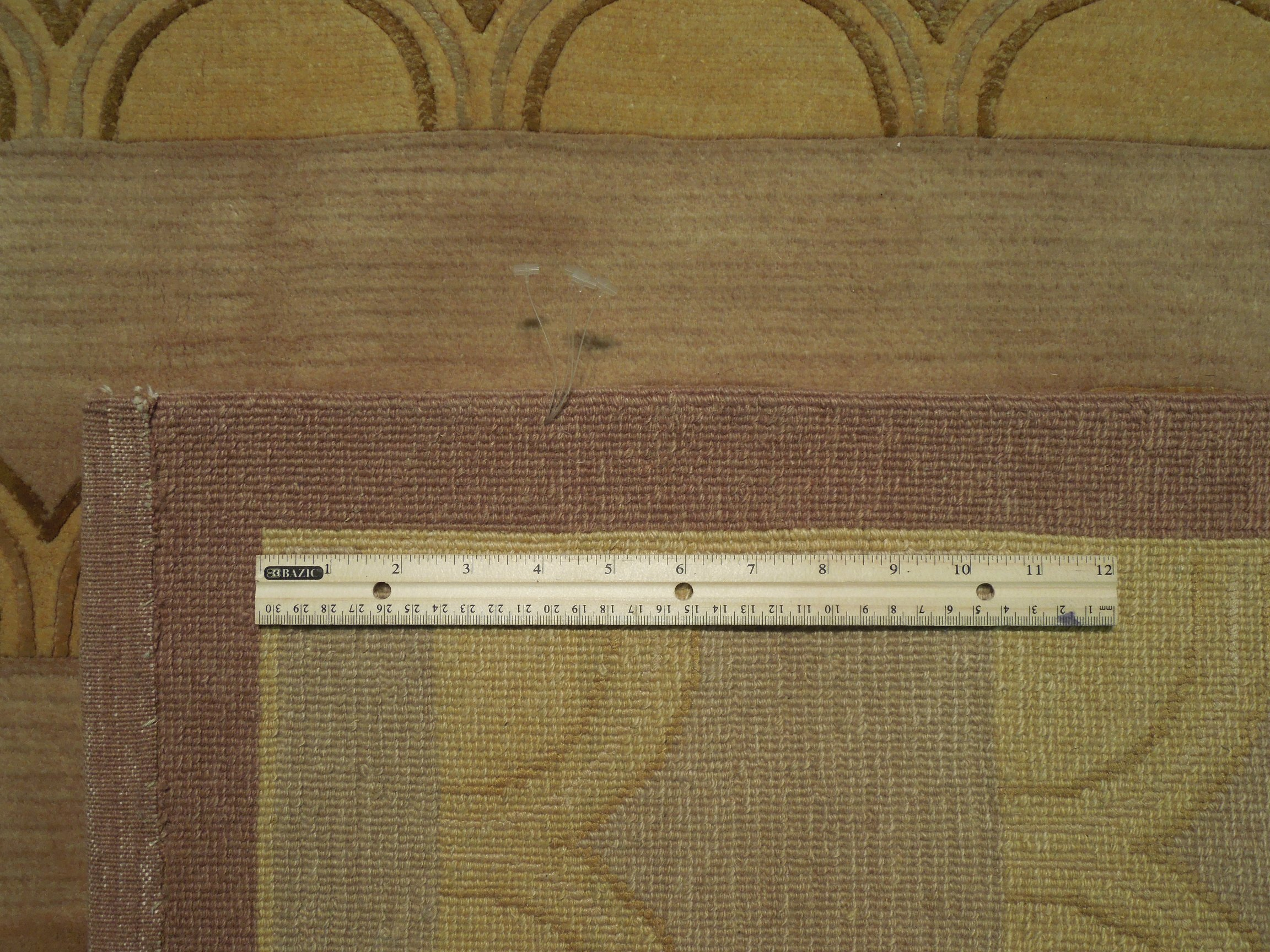 back of the rug -Authenticity of the weave HANDMADE  Area Rug